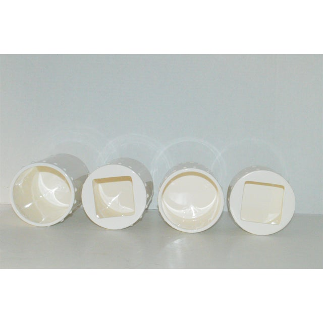Swid Powell Tigerman McCurry Ceramic Canisters - Set of 4 - Image 7 of 9
