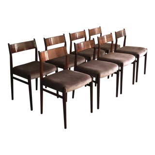 Mid Century Danish Modern Arne Vodder Rosewood Dining Chairs- Set of 8 For Sale