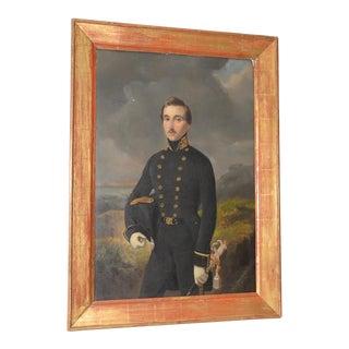 Pieter Gerardus Bernhard Portrait of Military Officer in a Seaside Landscape C.1850s For Sale