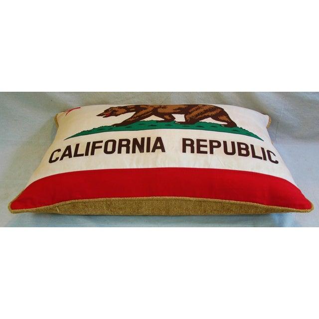 Jumbo California Republic Bear Flag Pillow - Image 6 of 11