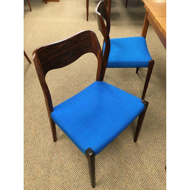 Moller Mid-Century Rosewood Chairs - Set of 4 - Image 6 of 7