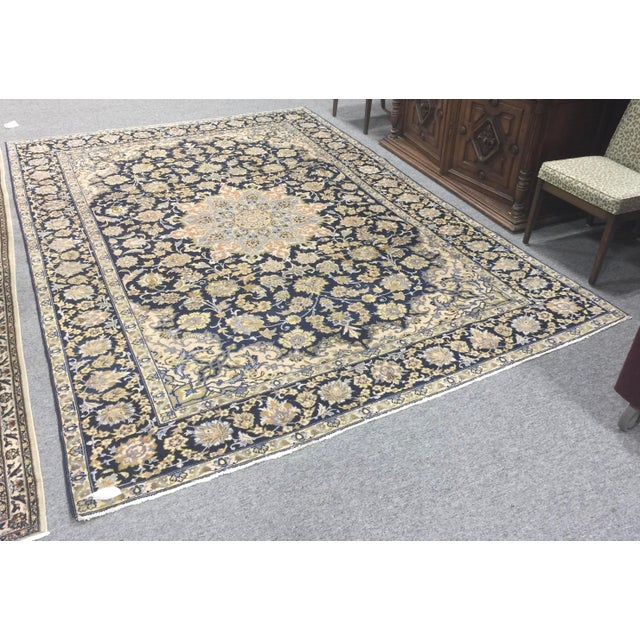 "Vintage Tabriz Rug 10' 9.5""x7' 10"" For Sale In San Francisco - Image 6 of 10"