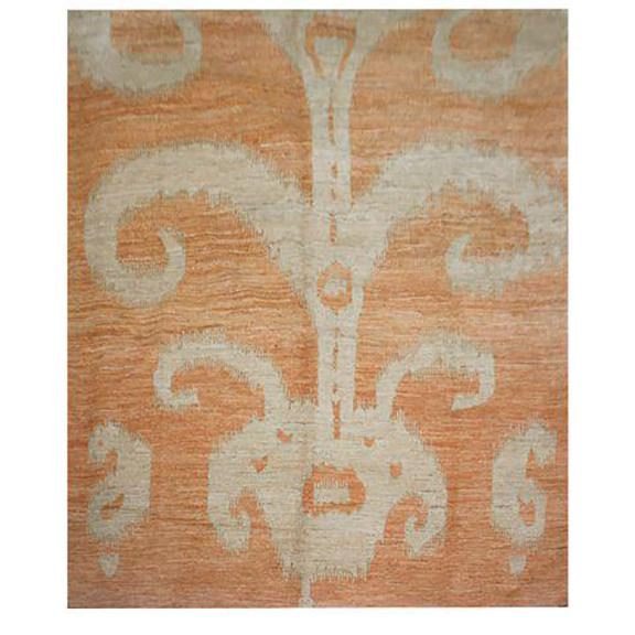 """2000 - 2009 Hand Knotted Ikat Rug by Aara Rugs Inc. 9'2"""" X 11'9"""" For Sale - Image 5 of 5"""