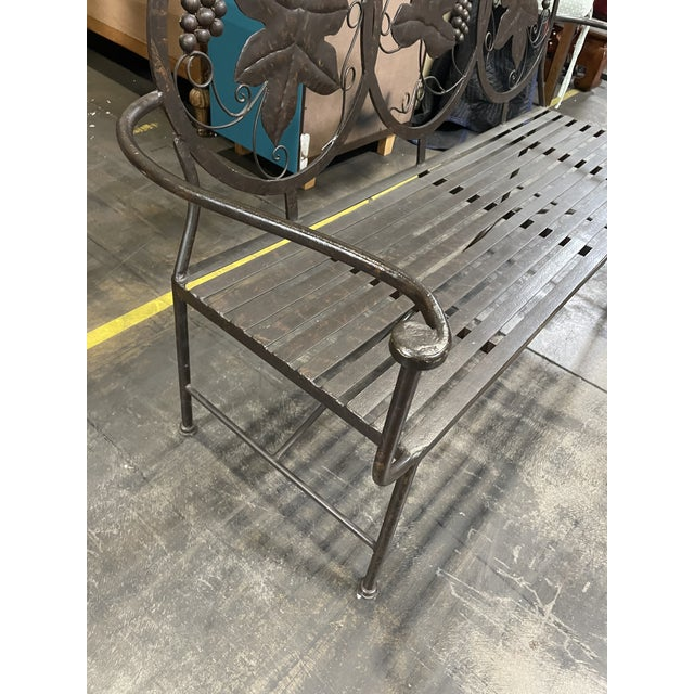 Black Late 20th Century Heavy Iron Bench by Maitland Smith For Sale - Image 8 of 11