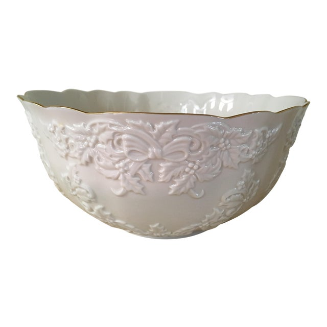 Lenox holiday hostess collection punch bowl chairish