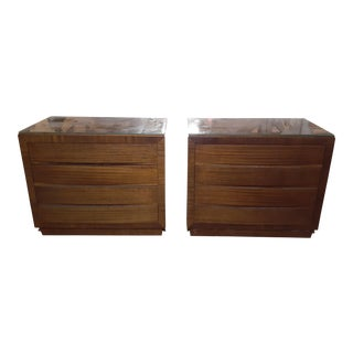 1940s Vintage Rway Furniture Chest Of Drawers-a Pair For Sale