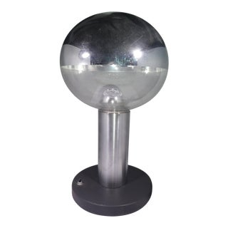 Space Age Chromed Glass Ball Table Lamp For Sale