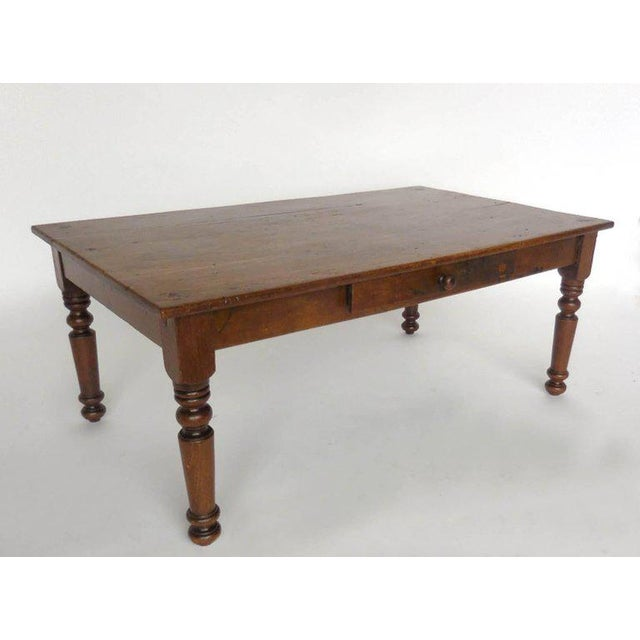 Antique Guatemalan Wooden Coffee Table With Turned Legs For Sale - Image 9 of 9