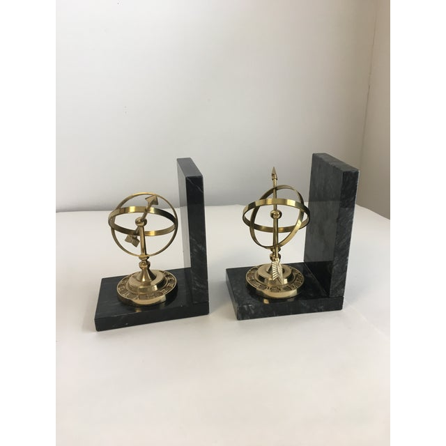 Armillary Marble and Brass Bookends - a Pair - Image 3 of 6