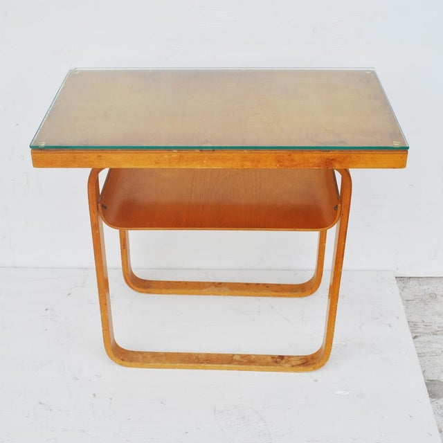 1930s Vintage Alvar Aalto 2-Tiered Birch Table For Sale - Image 5 of 8