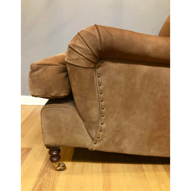 2010s George Smith Brown Suede Chair For Sale - Image 5 of 7
