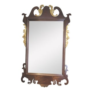 Federal Style Mahogany and Giltwood Mirror For Sale