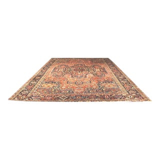 Early 20th Century Antique Persian Heriz Rug - 10′3″ × 15′ For Sale