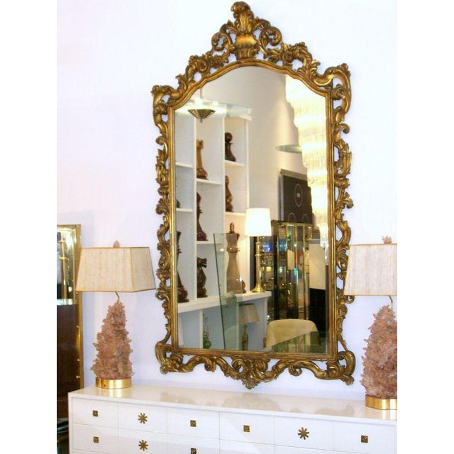 Gold Gilt, Gesso, Carved Wood Mirror - this piece came out of fashion designer boutique in NYC.