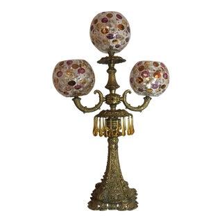 Italian Mid-Century Glass Globe Lamp For Sale