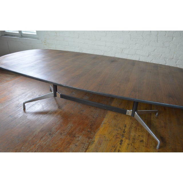 Herman Miller Charles & Ray Eames for Herman Miller Aluminum Group Mid Century Modern Conference Table For Sale - Image 4 of 9
