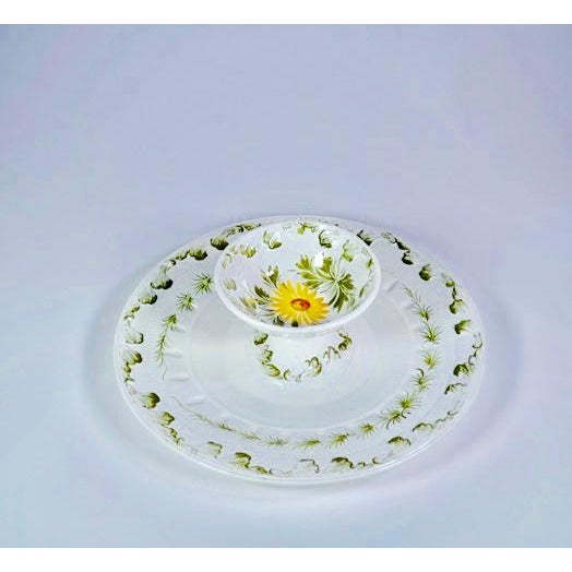 Tiered Italian Majolica Serving Bowl, Marked and Numbered For Sale - Image 4 of 5