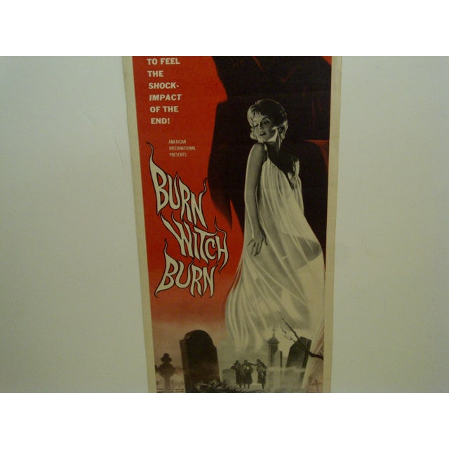 "Vintage Movie Poster ""Burn Witch Burn"" Janet Blair - 1962 For Sale - Image 4 of 6"