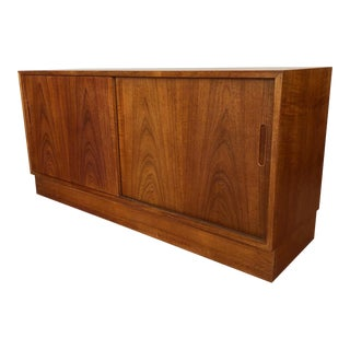 1960s Paol Hundevad Restored Compact Teak Credenza For Sale