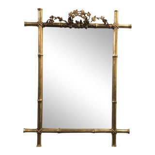 French Faux Bamboo Frame Mirror, 1920s