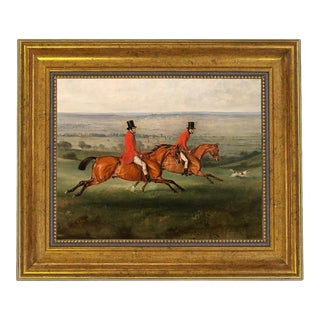 Oil Painting Print on Canvas, Across the Meadow, Framed For Sale