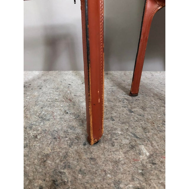 Metal Mario Bellini for Cassina Cab 412 Chairs - a Pair For Sale - Image 7 of 10