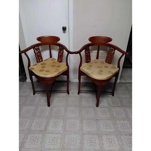 Chinese Solid Rosewood Corner Chairs - A Pair For Sale - Image 10 of 11