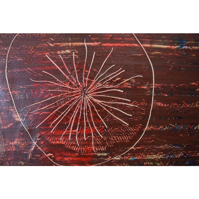 Original Signed 1966 Modernist Painting by Bennett For Sale - Image 5 of 5