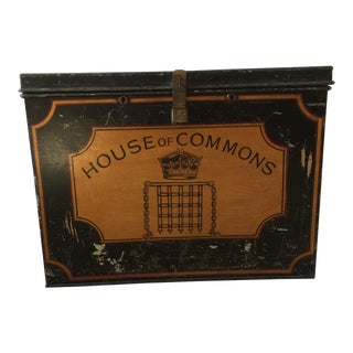 Antique House of Commons Metal Dispatch Box