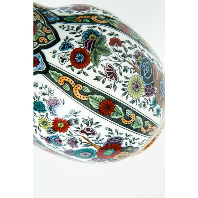 White Vintage Porcelain Dutch Vases - a Pair For Sale - Image 8 of 13