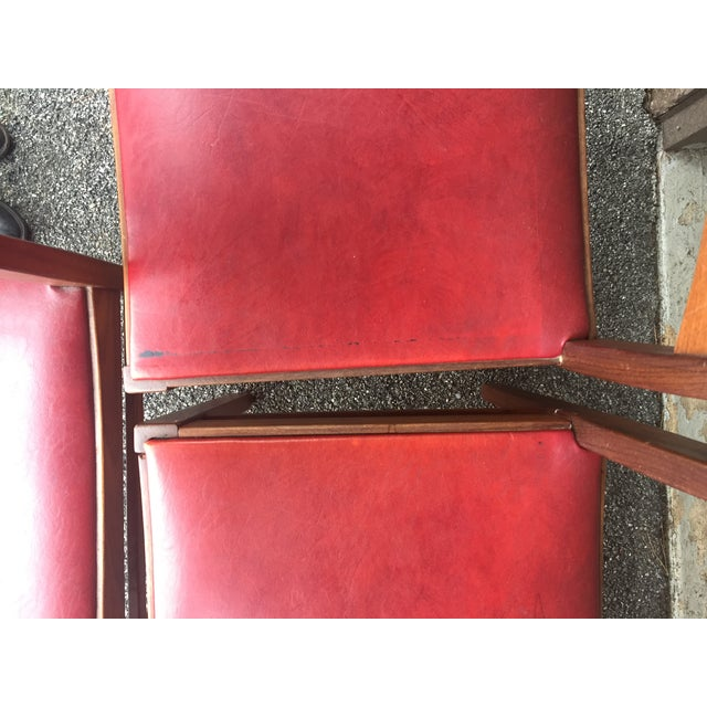 Vintage Mid-Century Danish Teak Dining Chairs- Set of 8 For Sale In New York - Image 6 of 9