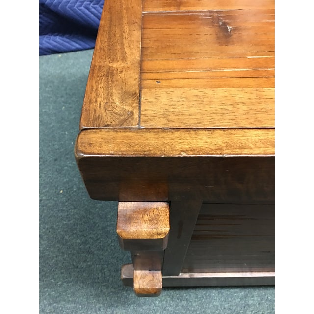 Vintage Sliding Top Trunk Table For Sale In San Francisco - Image 6 of 10