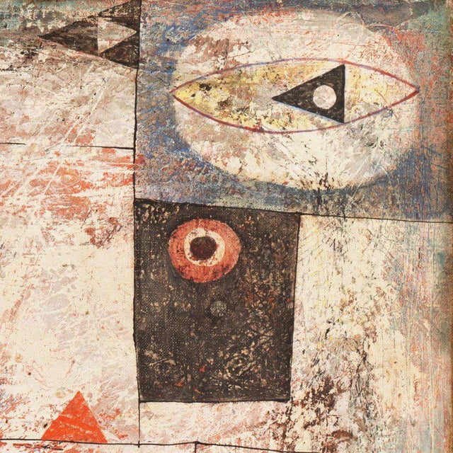 Mixed-Media Isami Adachi Geometric Abstract 1950s For Sale - Image 7 of 11