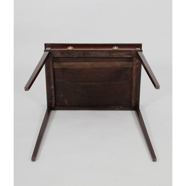 Metal Antique English George III Mahogany Side Table For Sale - Image 7 of 8