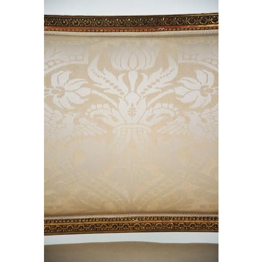 Louis XVI Gilded Settee For Sale - Image 10 of 11