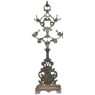 Vintage Cast Iron Hall Stand For Sale