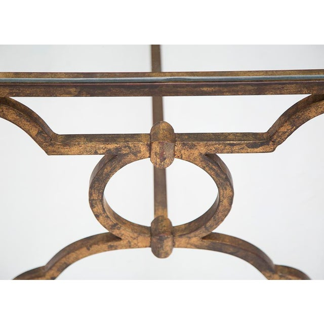 French Mid-Century Gilt Iron Coffee Table - Image 4 of 6