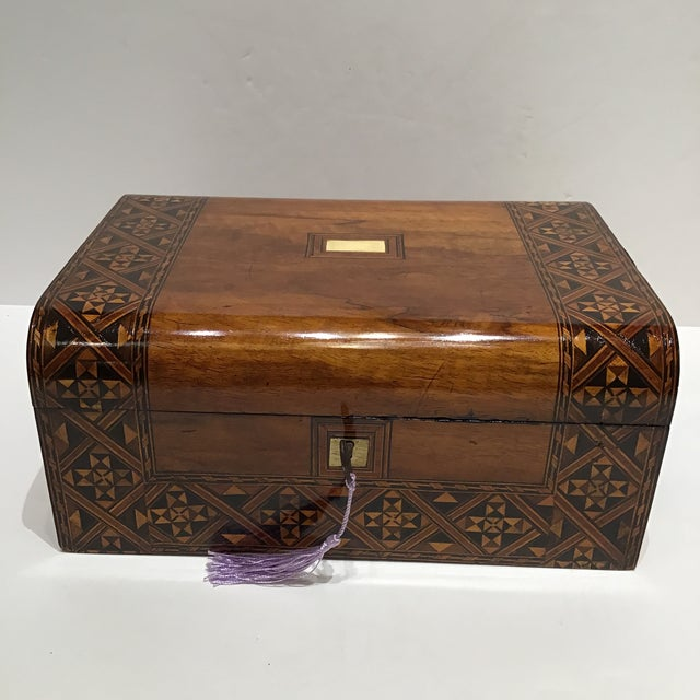 Wood 19th Century English Rosewood Turnbridge Box For Sale - Image 7 of 7
