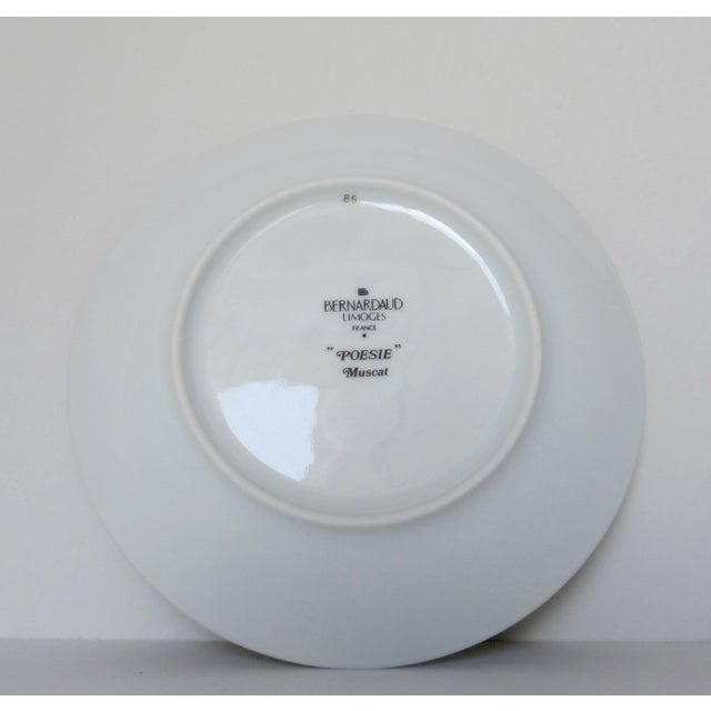 "Bernaradaud Limoges ""Peosie"" Canapé Plates - Set of 6 For Sale - Image 12 of 13"