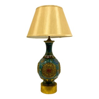 Asian Cloisonne Table Lamp For Sale