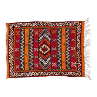Berber Rug - Small With Detailed Geometric Design For Sale
