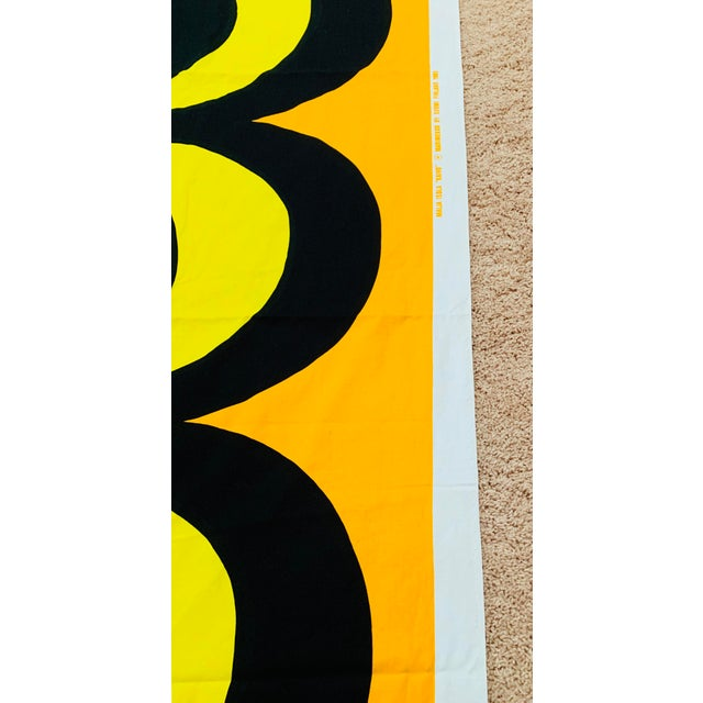1965 Vintage Marimekko Maija Isola Orange & Yellow Fabric