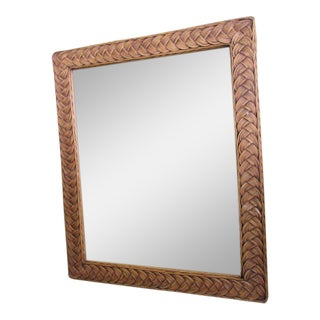 Islandy Wicker Braided Mirror