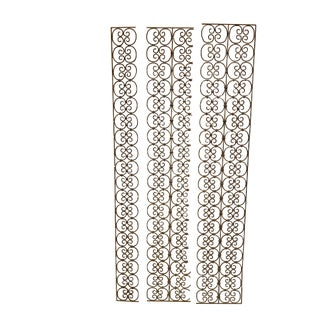 Hand Wrought Iron Scrollwork Panels - Set of 3 For Sale