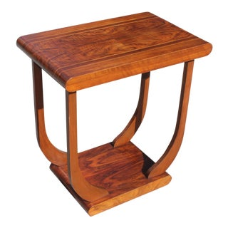 Beautiful French Art Deco Coffee Table or Side Table Exotic Walnut, Circa 1940s For Sale