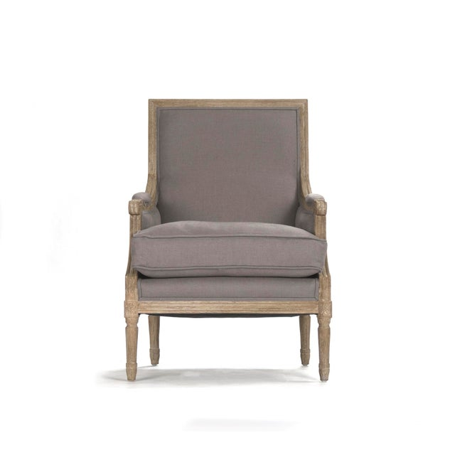 2020s Audley Club Chair in Gray For Sale - Image 5 of 5