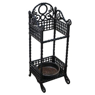 Bradley & Hubbard Cast Iron Cane Stand For Sale