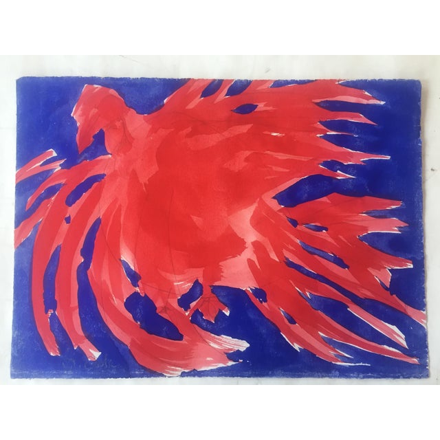 Original Vintage Robert Cooke Chicken Painting For Sale - Image 4 of 4