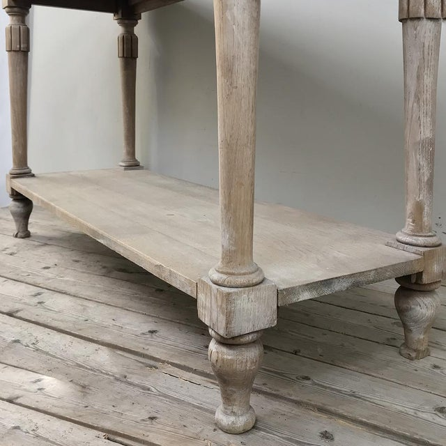 Antique Country French Whitewashed Console ~ Sofa Table For Sale - Image 11 of 13