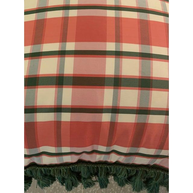 Vintage Accent Schumacher Silk Plaid Pillows With Cowtan & Tout Trim - A Pair For Sale - Image 9 of 12